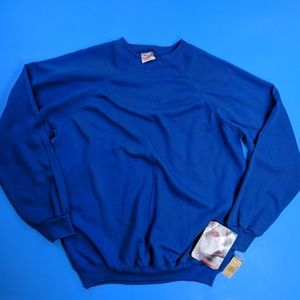 Sold Deadstock Hanes Sweatshirt Blue Blank XL